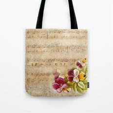Vintage music #7 Tote Bag