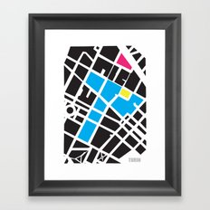 City Map Turin Framed Art Print