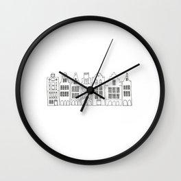 AMSTERDAM black and white Wall Clock