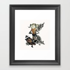 Caprica and her Dog Framed Art Print