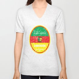 World Cup Football - Cameroon (Distressed) Unisex V-Neck