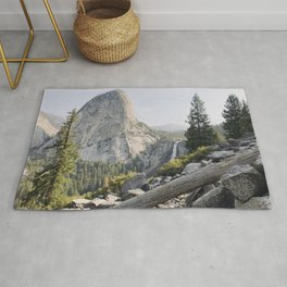 Liberty Cap and Nevada Falls in Morning Light Rug