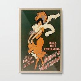 Vintage poster - Devil's Auction Metal Print