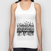 notebook Tank Tops featuring School notebook 3 by Eva Bellanger