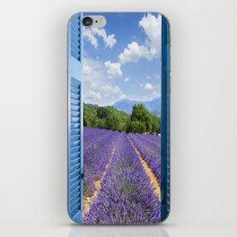 wooden shutters, lavender field iPhone Skin