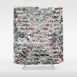 A Virtual Two By Four (P/D3 Glitch Collage Studies) Shower Curtain