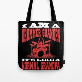 Mens I Am A Drummer Grandpa print Funny Gift for Grandpas Tote Bag