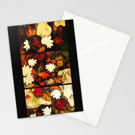 Autumn in Water -tryptich Stationery Cards