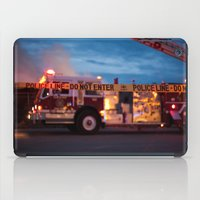 police iPad Cases featuring Police Line by SShaw Photographic