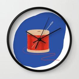 Thread and Needle Wall Clock