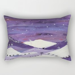 Mountains at night Rectangular Pillow