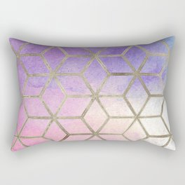 Pixie dust geometric watercolor Rectangular Pillow