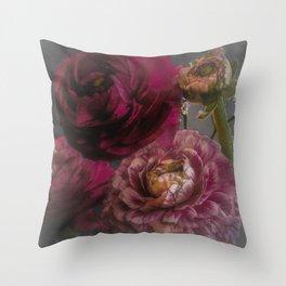 Ranunculus and Romance Throw Pillow