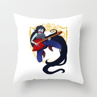 marceline Throw Pillows featuring Marceline by Roe Mesquita