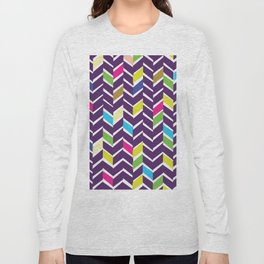 purple chevrons Long Sleeve T-shirt