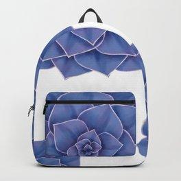 Elegant Big Purple Echeveria Design Backpack