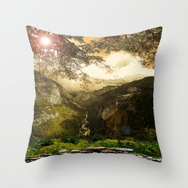 Through the Merced Gorge Throw Pillow