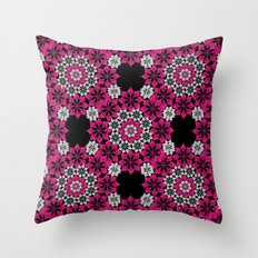 Squiggle pink Throw Pillow