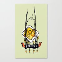 tatoo Canvas Prints featuring Tatoo. Forever by mayina