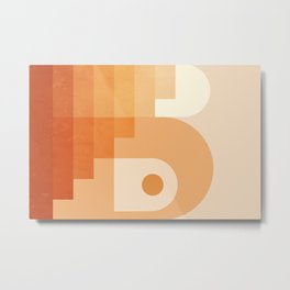 Abstraction_Architecture_Color_Gradient_Minimalism_001A Metal Print