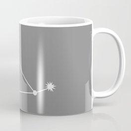 CAPRICORN (WHITE-GREY STAR SIGN) Coffee Mug