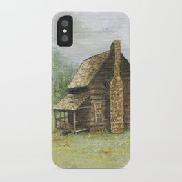 Log Cabin in Smokies iPhone Case