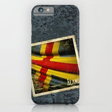 Grunge sticker of Aland Islands flag Slim Case iPhone 6s
