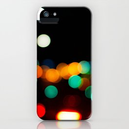 Blurred City Lights iPhone Case