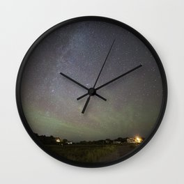 Airglow and the Milkyway at Pebble Beach Wall Clock