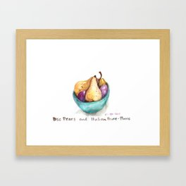 Pears and Plums Framed Art Print