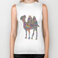 camel Biker Tanks featuring Camel  by Shanaabird