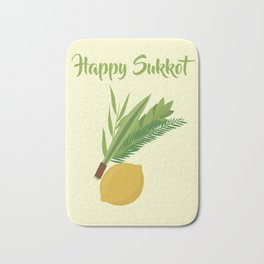 Wish You a Very Joyful Sukkot Bath Mat
