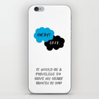 tfios iPhone & iPod Skins featuring TFIOS by Leticia