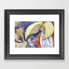 Fiery Furnace (by Trudy Creen) Framed Art Print