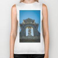 real madrid Biker Tanks featuring Almudena Cathedral, Madrid by Svetlana Korneliuk