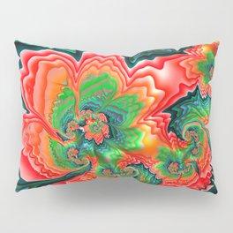 Red Poppy Fractal by Amanda Martinson Pillow Sham