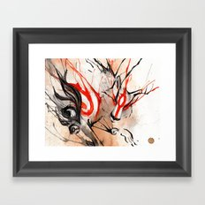 Okami Amaterasu Ink Framed Art Print