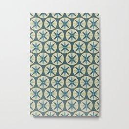 Blue Sand Dollar Metal Print