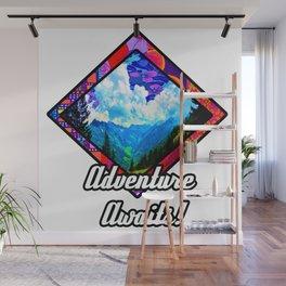 Adventure Awaits Mountain Scene Wall Mural
