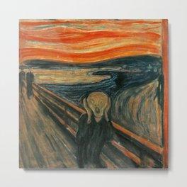 Edvard Munch's The Scream Metal Print