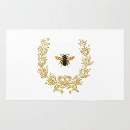 French Bee acorn wreath Rug