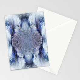 163 - water abstract design Stationery Cards