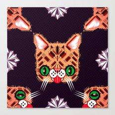 Lil Bub Geometric Pattern Canvas Print