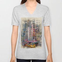 Radio City NYC Unisex V-Neck