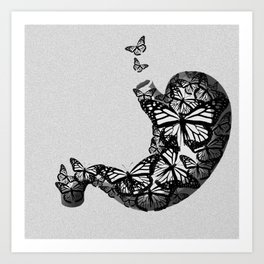 butterfly stomach Art Print
