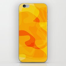 Orange Abstract Shapes iPhone & iPod Skin