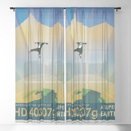 NASA Visions of the Future - Experience the Gravity of HD 40307g Sheer Curtain