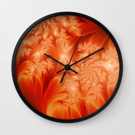 Fractal The Heat of the Sun Wall Clock