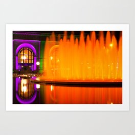 Firewater at Henry Wollman Bloch Fountain - Kansas City Union Station Art Print
