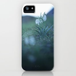 Fragility on a Hill. iPhone Case